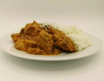 Pollastre tikka-massala amb arròs basmati