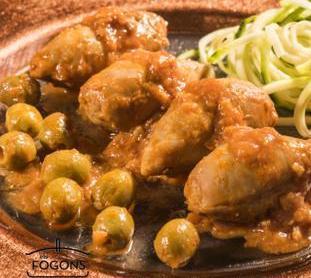 Calamars farcits de carn i olives