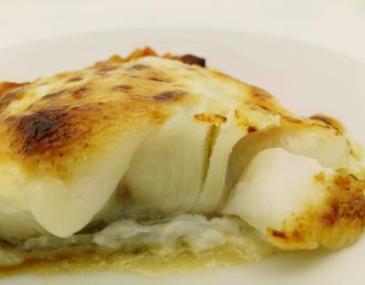 Filet de bacallà gratinat